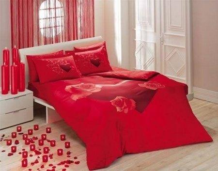 Ranjang Merah bunga