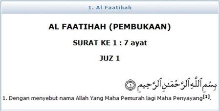 Al faatihah 1 Pembukaan
