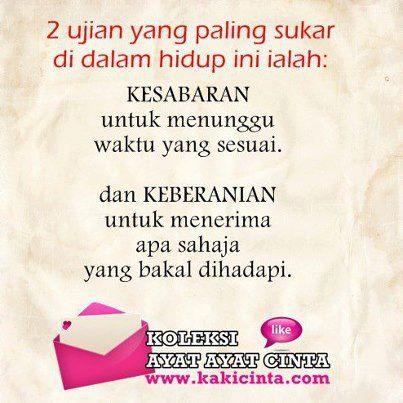 Ayat2 cinta kesabaran