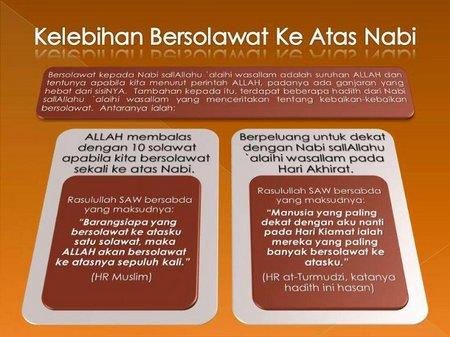 Sholawat Nabi dan kelebihan nya