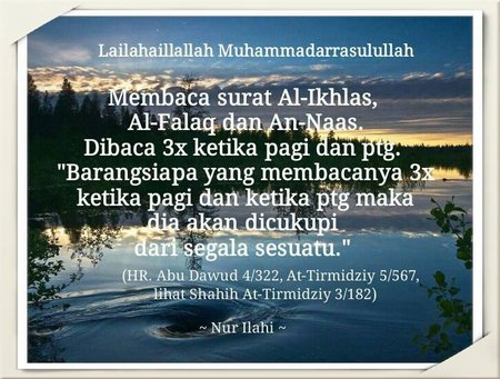 Surah Al-ikhlas, Al-Falaq, An-Naas