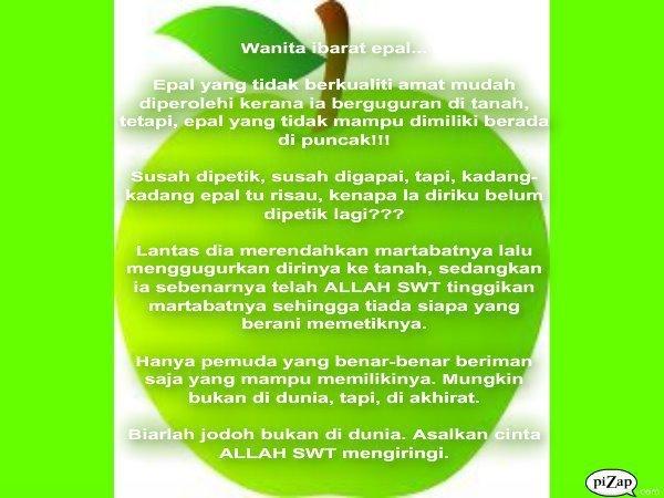 wanita seperti apel