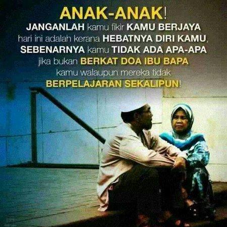 Berkat doa ibu bapak