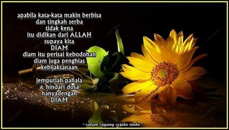 Diam bunga