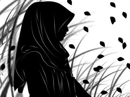 Muslimah silhouette