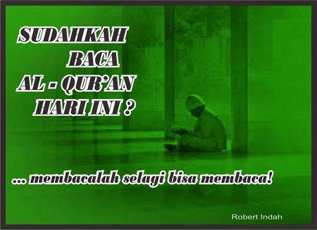 Sudahkah baca al quran hari ini