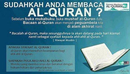 Sudahkan anda membaca quran