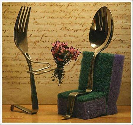 Love u sendok garpu