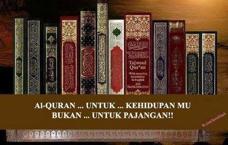 Quran bukan untuk pajangan