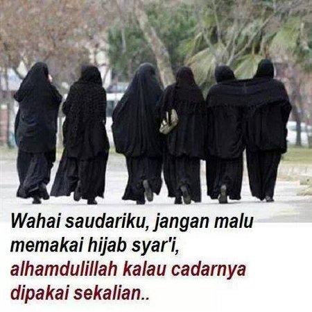 Hijab syar'i dan pakai cadar