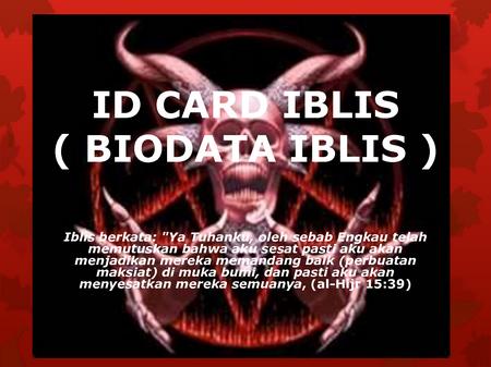 Iblis id card