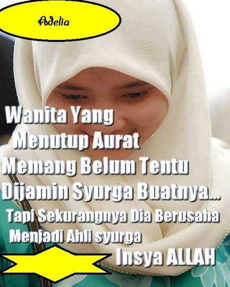 Jilbab menutup aurat