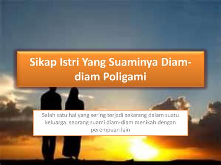 Poligami sikap istri