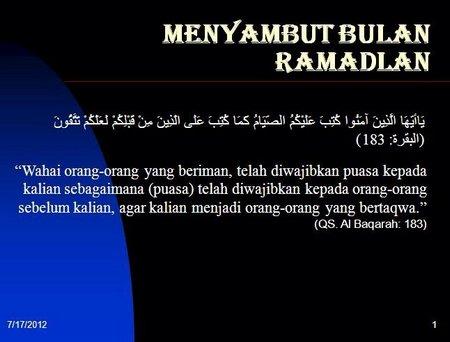 Ramadhan menyambut