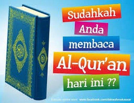 Sudahkah baca quran hari ini