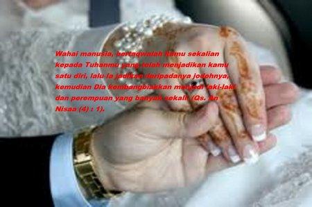 Tangan pengantin nikah