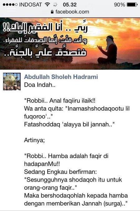 Doa Indah Abdullah sholeh Hasrami