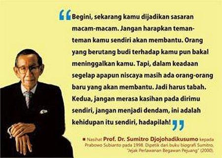 Nasehat Prof sumitro