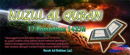 Nuzul Quran 17 ramadhan 1