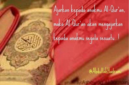 Quran ajarkan pada anak