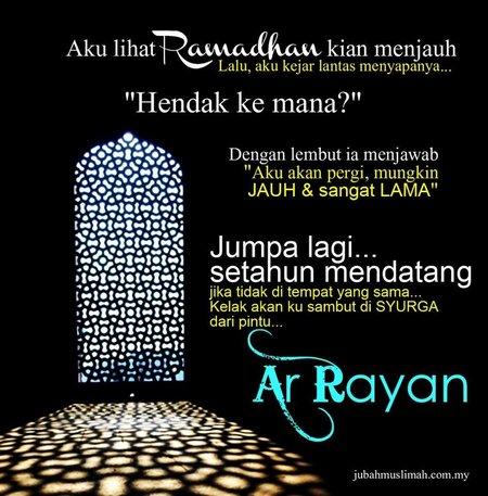 Ramadhan kian menjauh