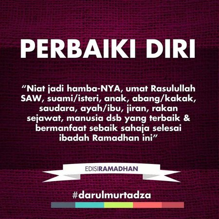 Ramadhan perbaiki diri