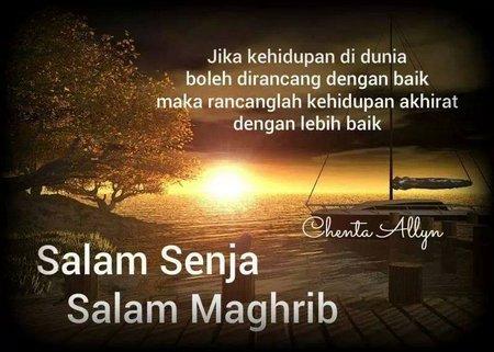 Salam Magrib dan salam senja