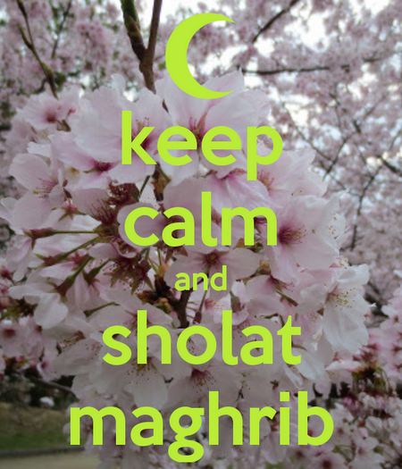 sholat-maghrib keep calm