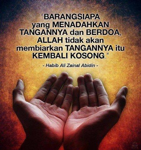 Tangan berdoa tdk akan kembali kosong