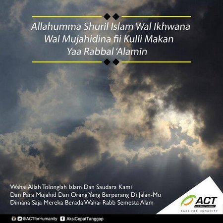 Wahai allah tolong lah islam