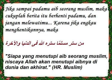 Aib seorang muslim