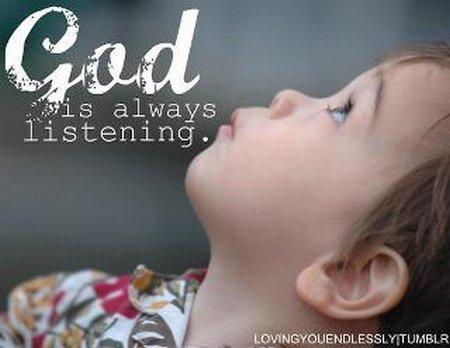 Allah selalu mendengar