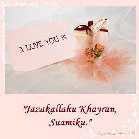 I love u terimakasih suamiku