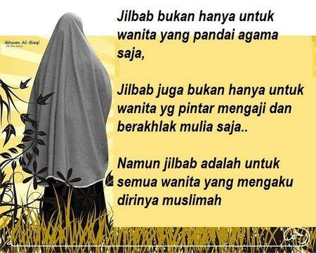 Jilbab Muslimah kata kata