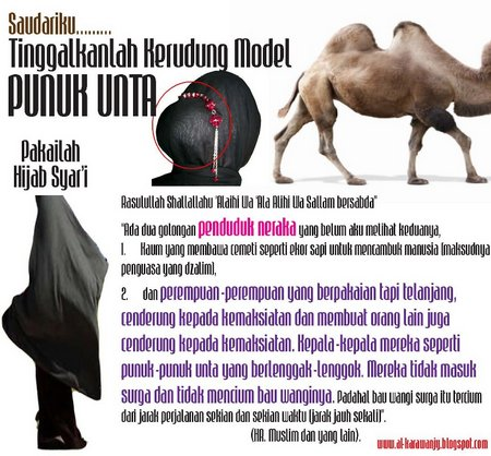 Jilbab punduk onta