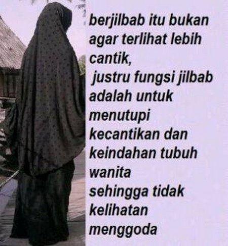 Jilbab tutup kecantikan