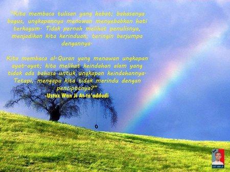 Quran rindu sama sang penciptanya