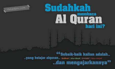 Sudahkah membaca quran hari ini