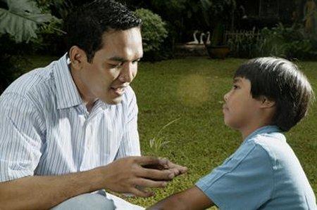 Ayah dan anak laki 2