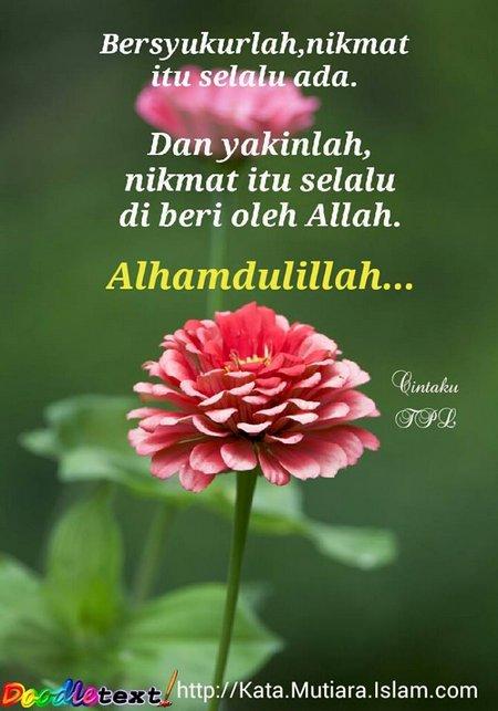 Bersyukur allhamdulilah