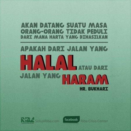Haram dan halal tidak peduli