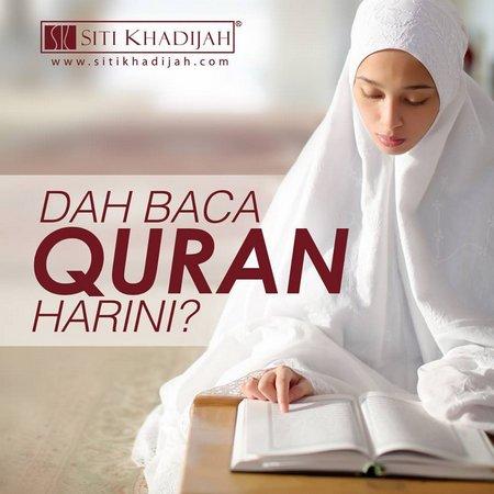 Muslimah baca quran putih 1