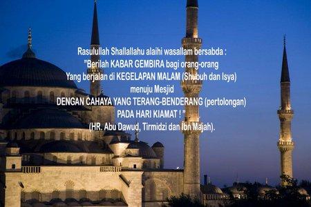 Sholat isya dan subuh mesjid