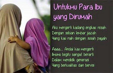 Untukmu Para Ibu yang Dirumah