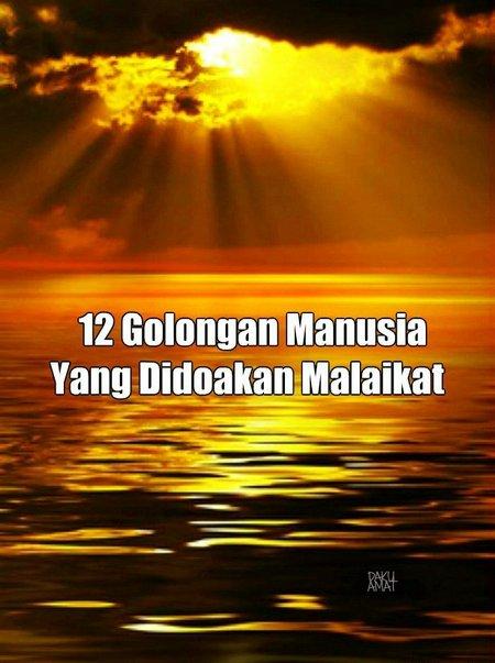 12 orang yang didoakan malaikat