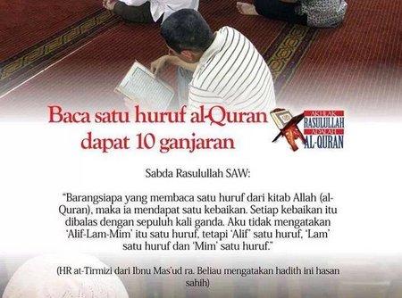 Baca Quran 10 ganjaran