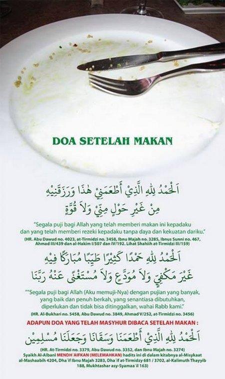 Doa setelah makan