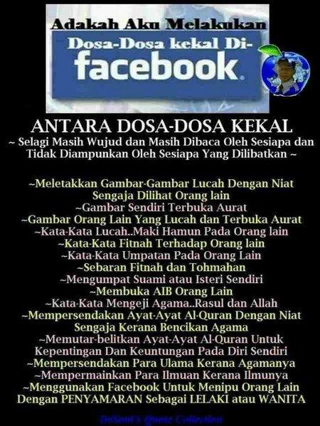Facebook dan dosa dosa