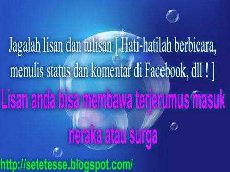 FB Lisan dan tulisan