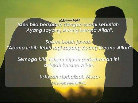 Istri bersalaman ama suami ( doa)